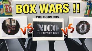 Box Wars Mega Edition vs Tyler's Cards & 10PM ! Boombox Platinum Football
