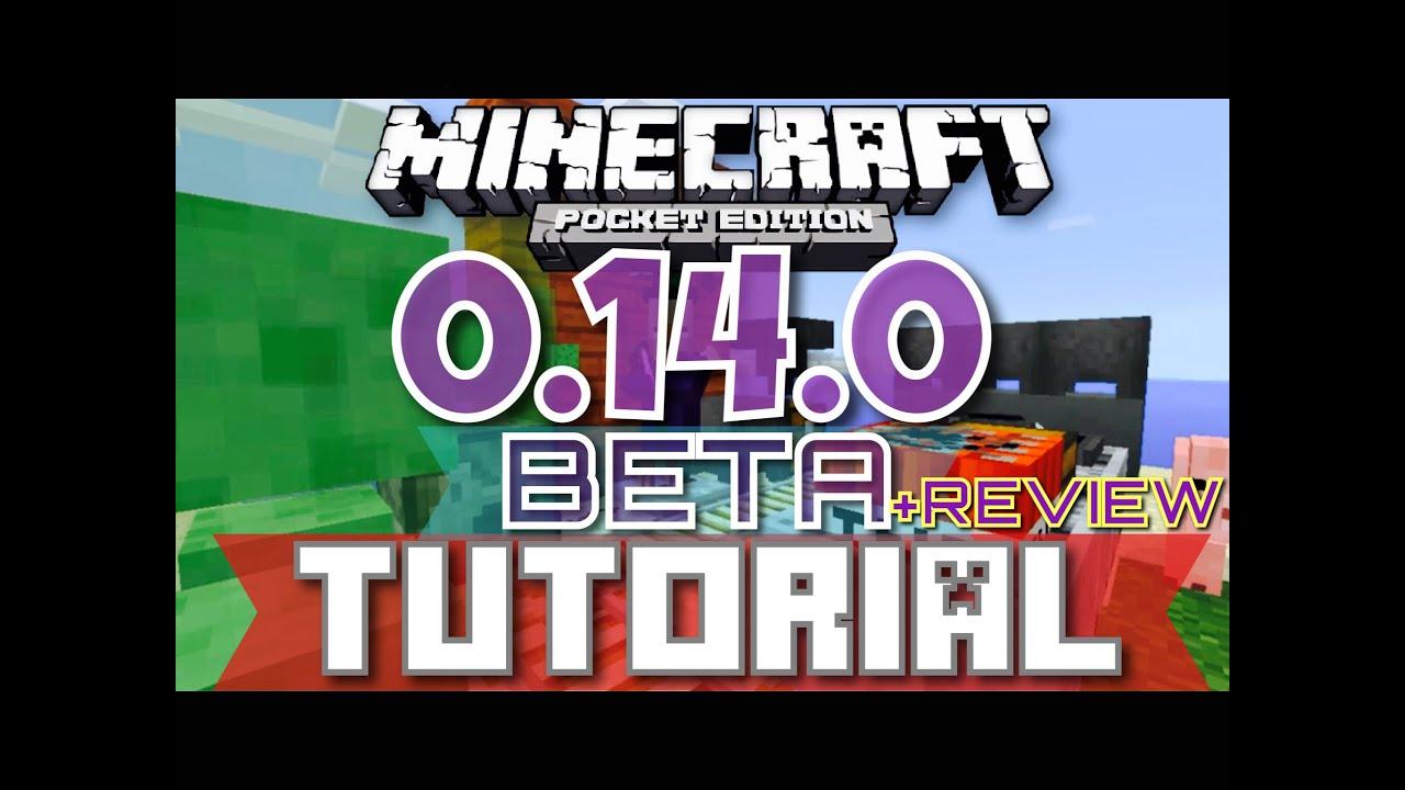 ✔️MCPE 0.14.0 BETA TUTORIAL + REVIEW || Minecraft Pocket Edition 0.14.0 BETA Tutorial+Review