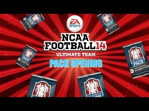 NCAA Football 14: Ultimate Team All-American Pack Opening Stream