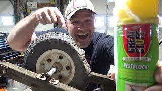 Spray foam for flat proof tire...Will it work? Let's try!!