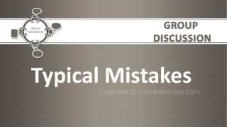 Best Placement Preparation Videos ever (IBPS,GRE,CAT) - Group Discussion - Typical Mistakes