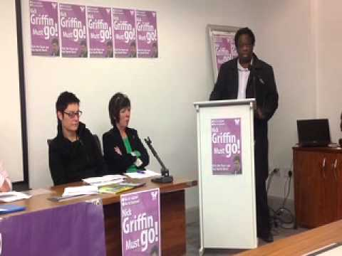 Weyman Bennett, Joint National Secretary UAF, Nick Griffin Must Go! NW UAF Conference 2012.