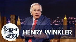 """Henry Winkler Kicks Off His Tonight Show Interview with """"The Fonz"""" Dance"""