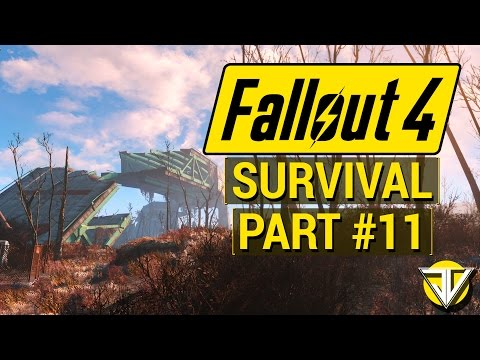 FALLOUT 4: SURVIVAL MODE Let's Play Part 11 - Searching for the INSTITUTE! (PC Gameplay Walkthrough)