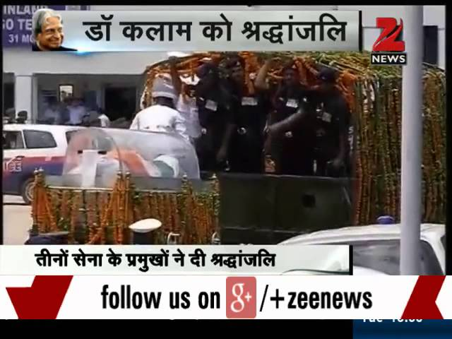 Kalam's body flown to Delhi; PM, Prez lead nation in paying homage