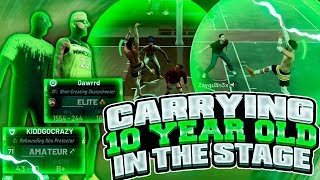 MY POST SCORER WINS 10 YEAR OLD SUBSCRIBER VC AGAINST DELAYERS AT THE STAGE! NBA 2K19