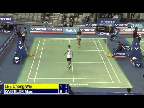 R16 - MS - Lee Chong Wei vs Marc Zwiebler - 2014 Korea Badminton Open (F 15-11)