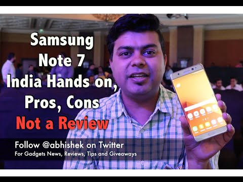Hindi   Samsung Note 7 India Pros. Cons. Hands on. Not a Review