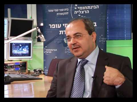 Ahmad Tibi in an interview