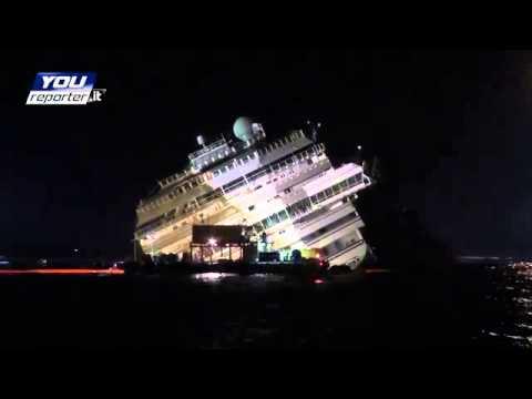 Time lapse raddrizzamento della Concordia