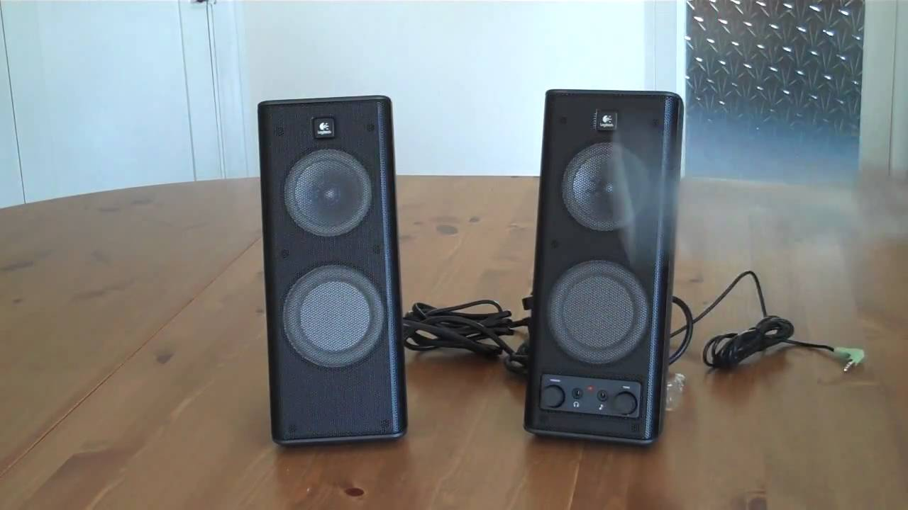 how to connect logitech computer speakers to tv