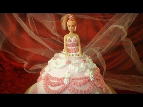 Cake Design Torta Barbie : Torta di compleanno Barbie cake by ItalianCakes - YouTube