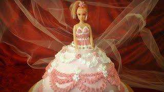 Barbie Doll Princess cake- Cupcakes- How to Decorate ...