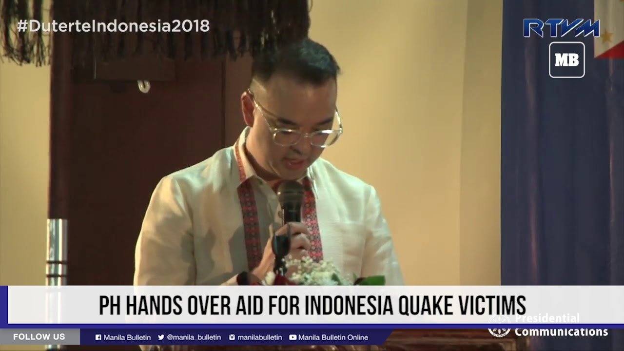 PH hands over aid for Indonesia quake victims