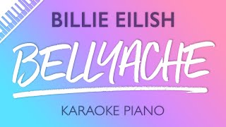 Bellyache Piano Karaoke Instrumental Billie Eilish