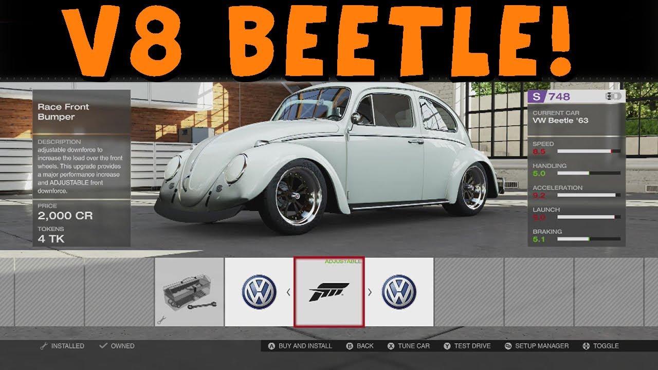 forza motorsport  twin turbo ls  volkswagen beetle drift build youtube