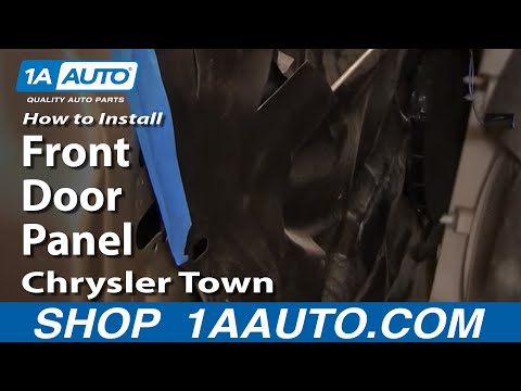 How to Install Replace Remove Front Door Panel Chrysler Town and Country 04-07 1AAuto.com