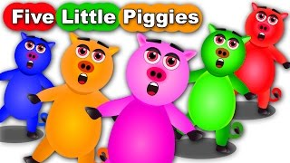 Five Little Piggies Jumping on the bed Nursery Rhyme For Kids And Childrens | Songs For Baby