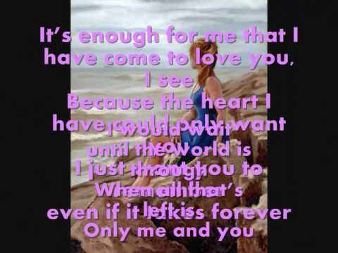 Only Me and You-Donna Cruz (with Lyrics)