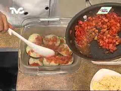Receta para preparar Lasaña de Berenjena