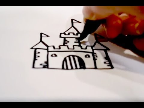 Candy Castle Drawing How to Draw a Cartoon Castle