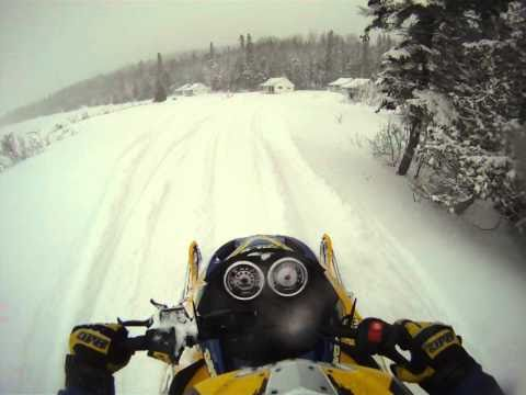 Joey riding 500ss in Rangeley, ME in 2010