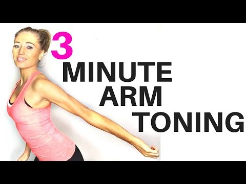 ARM TONING WORKOUT FOR WOMEN - 3 minute routine to help lose arm fat and tone your arms