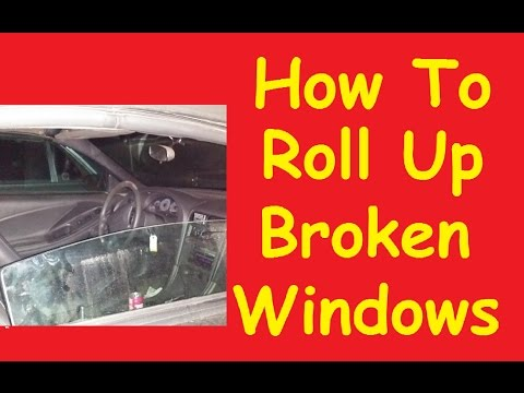 How To Roll up Stuck Broken Car Window Switch Motor Jump Video DIY