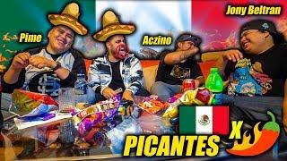 PROBANDO PAPAS PICANTES MEXICANAS ft. ACZINO, JONY BELTRAN y PIME