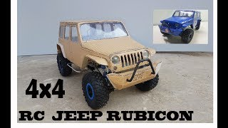 WOW! Super RC Jeep Wrangler  || DIY at Home || Jeep Rubicon  || 4X4 off road ||  Electric Toy Car
