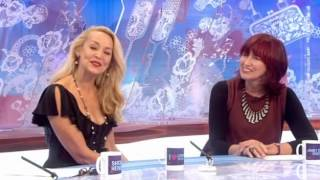 Jerry Hall interview on Loose Women (Strictly Come Dancing) 11th October 2012