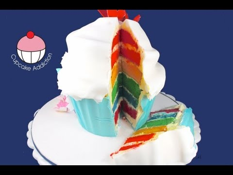 Cupcake Addiction Rainbow Cake