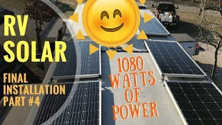 1080 Watt AM Solar System With Controller/Charger, and Batteries Installation