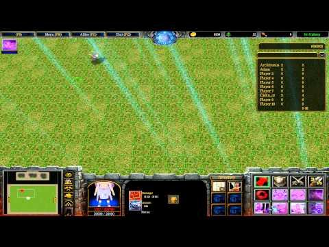 Warcraft III: TFT - Naruto Battle Royal - 35 - Sai vs Kimimaro vs Darui