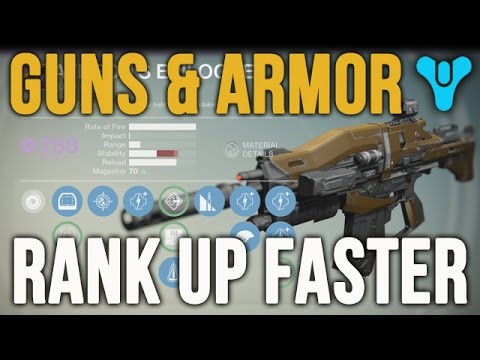 Destiny best way to upgrade guns weapons gear armor fastest level up