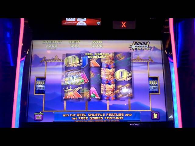 Aristocrat Dragon Emperor slot machine bonus win at Parx Casino