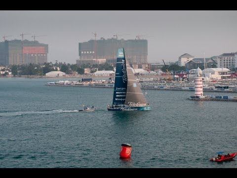 Volvo Ocean Race - Sanya Leg 4 Start Buddha Course Final Part - 2011-12