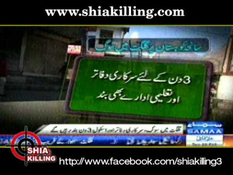 Attack on bus in Kohistan - Shia killing In Pakistan-28 fob 2012