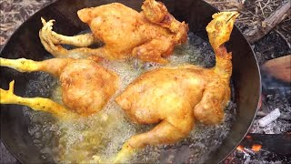 WHOLE CHICKEN CURRY RECIPE  - CHICKEN CURRY INDIAN STYLE - COOKING & EATING IN WILD