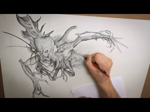 Monster Drawing Techniques - with Tim Martin