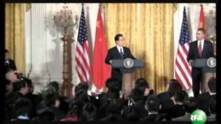 胡锦涛被记者追问人权问题