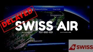 SWISS Airlines Delayed SIN-ZRH 2019- in Zurich airport Switzerland