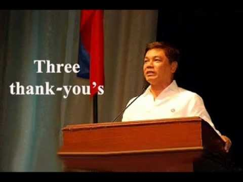 Three Thank -you's By Pastor Ed Lapiz video