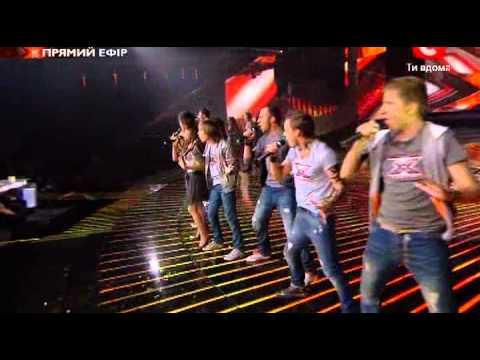 Х-фактор-2 Украина. Общая песня.1 прямой эфир. 22.10.2011