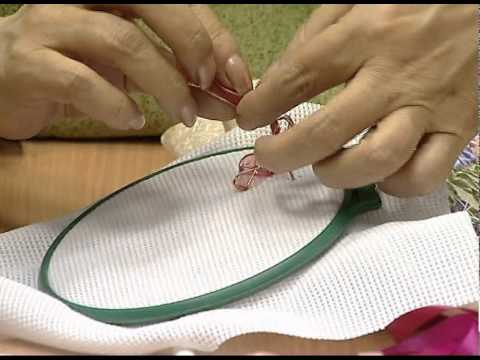 вышивка лентами тютелька в тютельку