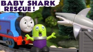 Baby Shark Toy Rescue Kids Story with the Funny Funlings and Thomas and Friends