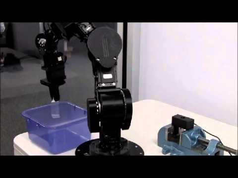 Cyton Humanoid Robot Arm Performing Liner Removal