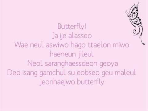 [to The Beautiful You Ost] Jessica & Krystal - Butterfly Lyrics video