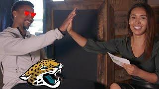 AJ Bouye Of The Jacksonville Jaguars Sits Down w/ Britt Johnson To Play Twitter Games | Press Pass