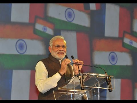 Narendra Modi speech at community reception in Paris, while addressing Indians